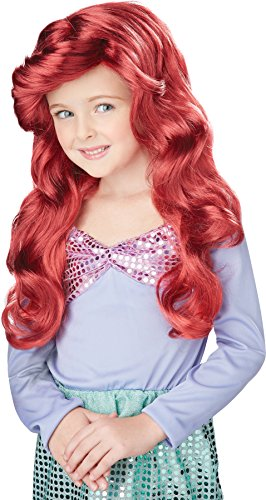 Little Mermaid Wig (Red) Child Accessory -