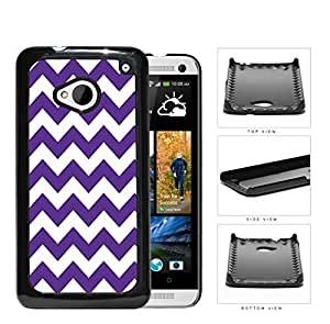 Chevron Design Pattern in Purple Hard Plastic Snap On Cell Phone Case HTC One M7