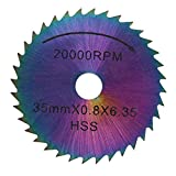 Circular Saw Blade, Asixx HSS Circular Saw Blades Cutting Disc Power Tools for Electric Mill, Woodworking, Plastic Cutting, Iron Plate Cutting, etc(35mm)