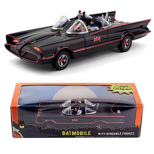 "Batman Classic Tv Series 10"" Batmobile with Bendable Figures"
