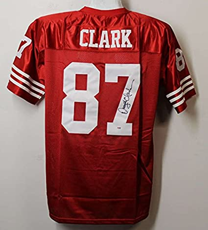 new products 66cb6 8f36f Dwight Clark Autographed San Francisco 49ers XL Red Jersey ...