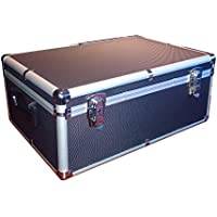 510 Aluminum Like CD DVD Blu-Ray Carry & Storage Case Box Black with Sleeves