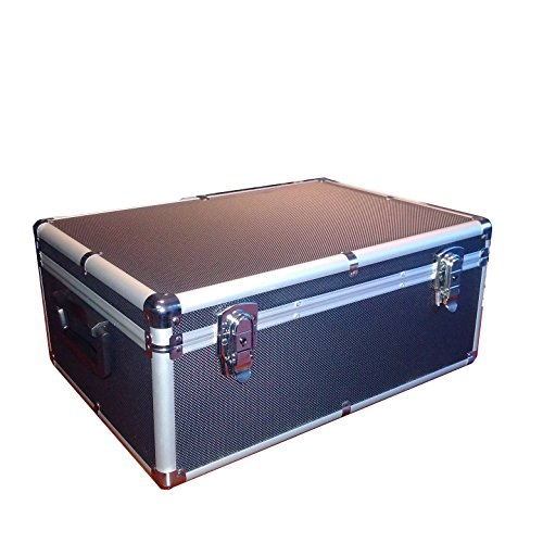 510 Aluminum Like CD DVD Blu-Ray Carry & Storage Case Box Black with (Cd / Dvd Black Jewel)