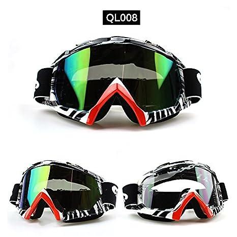 logas Lunette Moto Cross Goggle Anti UV Anti Poussi/ère Protection des Visage pour Yamaha Honda Suzuki