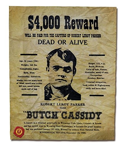 amazon com our amendments butch cassidy wanted poster 4 000
