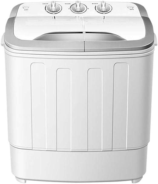 Compacto 13 Lb Mini bañera doble semi-automática lavadora secadora ...