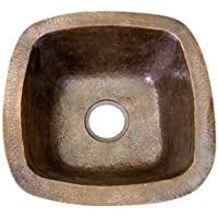 Barclay 6516-AC 18-Inch Prep/Bar Sink, Antique Hammered Copper