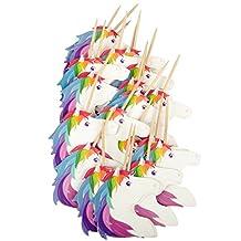 24 Pieces Unicorn Food Picks Party Supplies