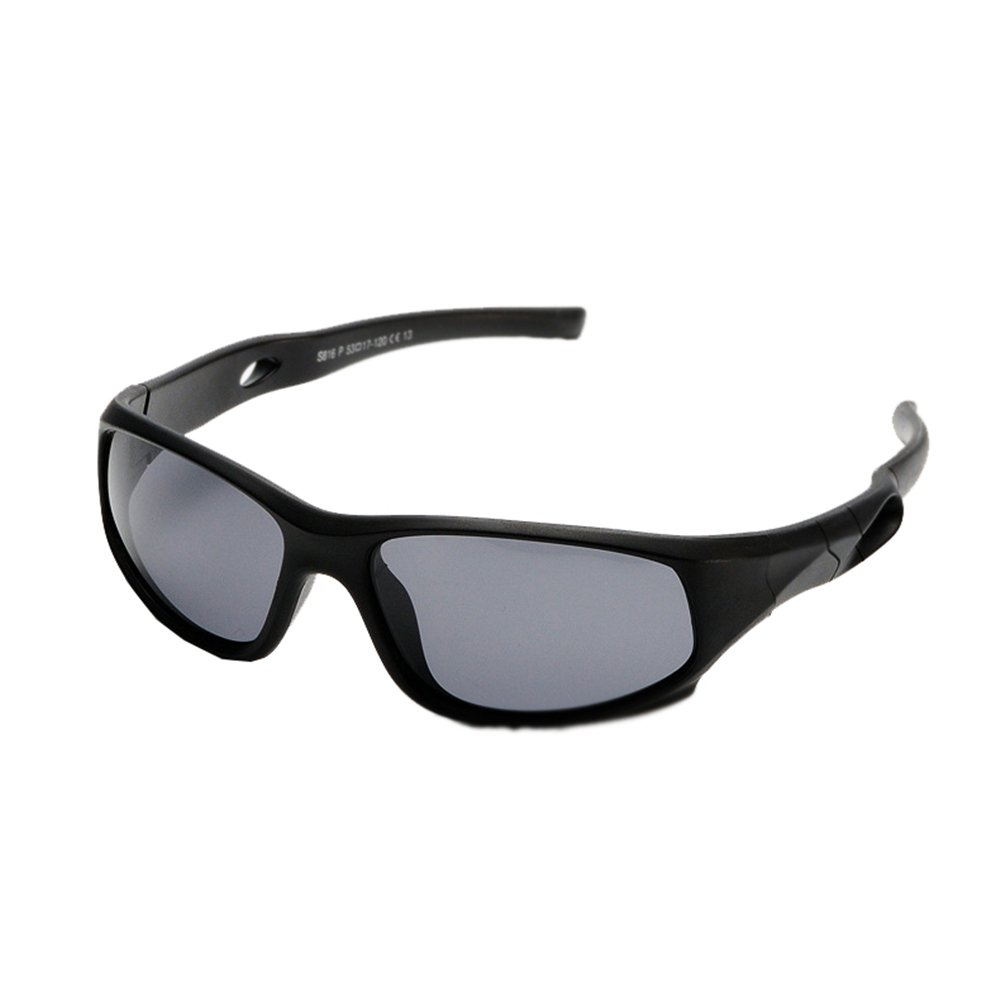 Children Boys Girls Outdoor Polarized Rectangular Sunglasses Eyewear Black B