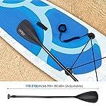 INTEY-Stand-Up-Paddle-Board-Gonfiabile-Supporto-Tavola-in-PVC-Costruzione-Ultra-Robusta-Kit-con-Pagaia-Pompa-a-Doppia-Azione-Sacca-per-Posto-Scatola-di-Riparazione-Leash-Aileron