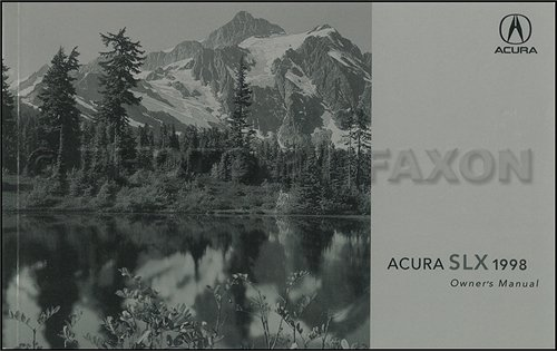 1998 Acura SLX Owners Manual Original