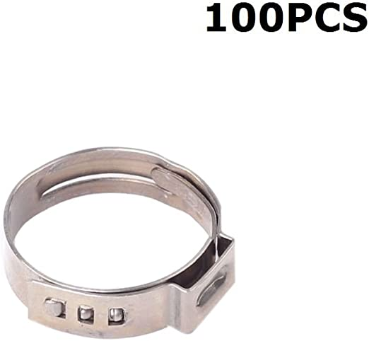 "3//4/"" inch PEX Stainless Steel Clamp Cinch Rings Crimp Pinch Fitting 10 pcs"