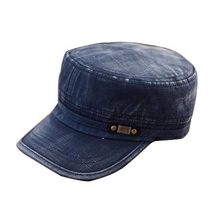 HAPKQZY Sombrero Lady Classic Plain Hat Mujer Hombre Cadet Gorra ...