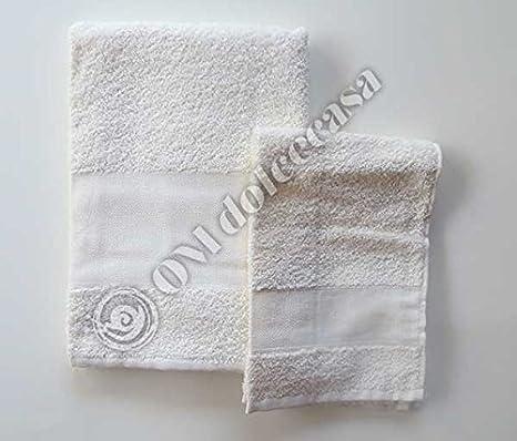 Juego de toallas de rizo de algodón: toalla de rostro + toalla de huésped.