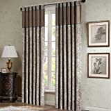 Cheap Madison Park Aubrey Rod Pocket Curtain Panel Pair, Brown