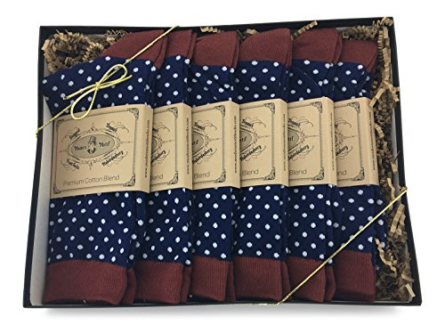 Modern Motif – 6 Pair Men's Matching Dress Socks Gift Box   Groomsmen Weddings Party Events