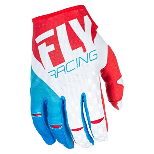 Fly Racing Men's Kinetic Gloves Red/White/Blue Size 8