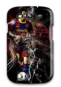 Premium GLWIGgS6185ntPtw Case With Scratch-resistant/ Lionel Messi Fc Barcelona Case Cover For Galaxy S3