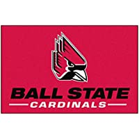 Fanmats NCAA Ball State University Cardinals Nylon Face Starter Rug