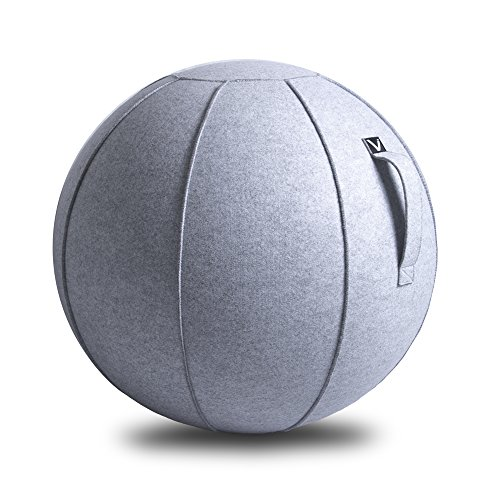 Vivora Luno Exercise Ball for Home, Office, Yoga, Stability and Fitness, Sitting Ball with Handle - Marble
