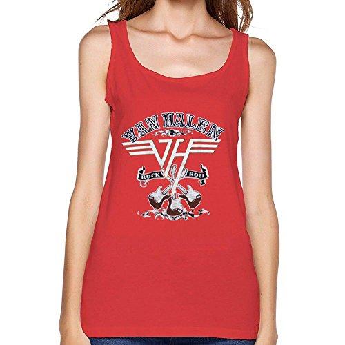 MINNRI Women's Van Halen Tank Top 100% (Van Halen Womens Top)