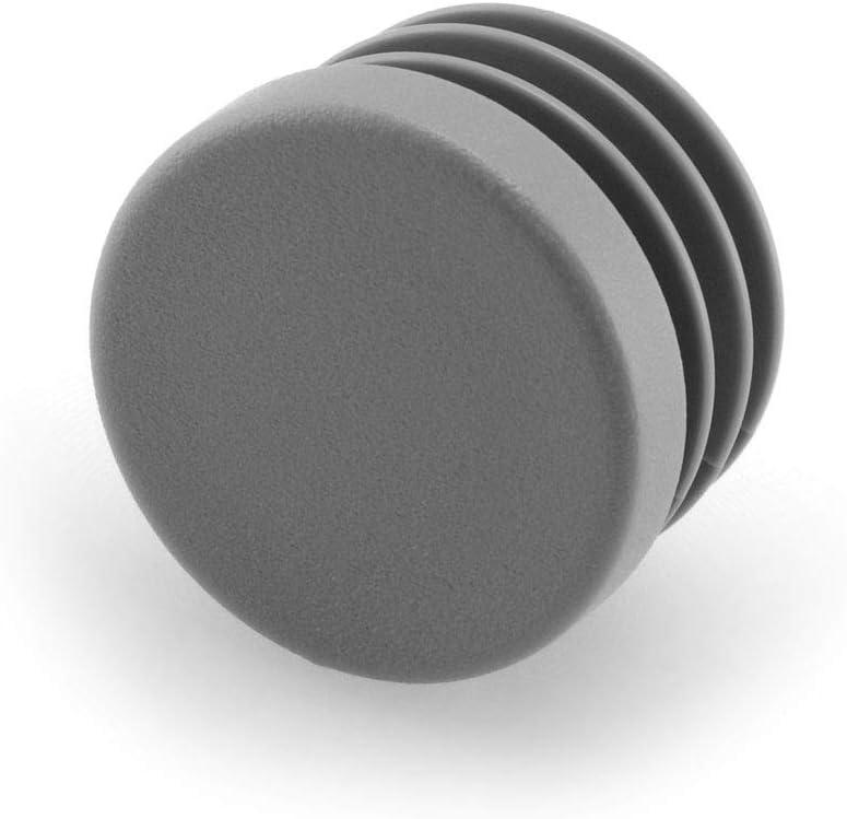GLEITGUT Lot de 4 bouchons /à lamelles de 14 mm /à 15 mm Tube rond 18 mm Tube ext/érieur Bouchons de tube ext/érieur gris