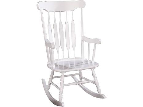 Enjoyable Slat Back Rocking Chair White Short Links Chair Design For Home Short Linksinfo