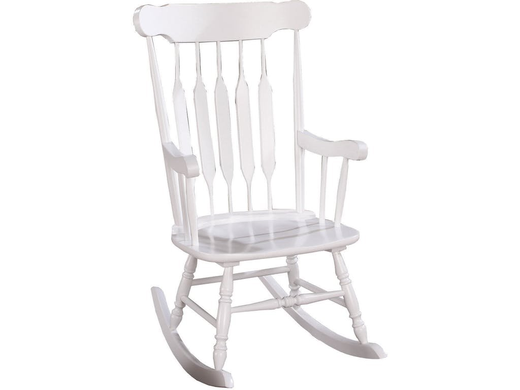 white wooden rocking chair. Coaster Traditional White Wood Rocking Chair With Slatted Back Wooden H