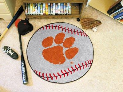 Tigers Small Baseball Rug - Fanmats Clemson Tigers Baseball-Shaped Mat