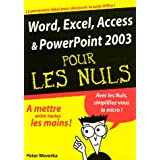 Word,excel,access & powerpoint 2003..