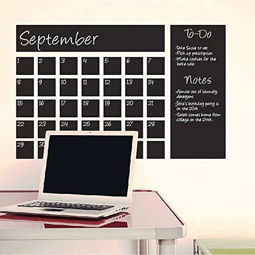 Chalkboard Calendar Vinyl Wall Decal for Home Room Office(14
