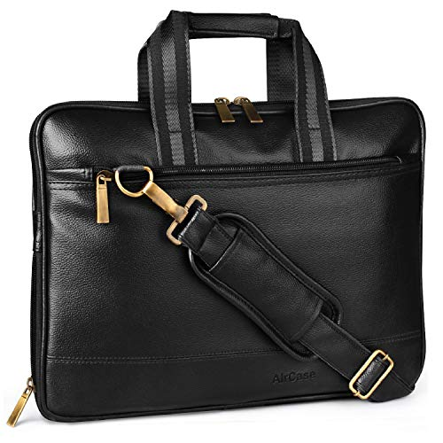 Aircase C54 Vegan Leather 15.6″ Multifunction Laptop Bag (Black)