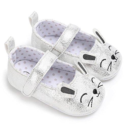 Igemy 1 Paar Kleinkind Baby Wave Point Neugeborene Niedlich Katze Muster Kinder Soft Sohle Schuhe Silber