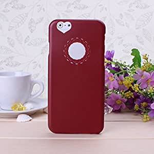 Wkae@ iPhone 6 Plus 5.5 inch Case -- Protective Snap-on Hard Case Slim Cover (Not compatible to Apple iPhone 5 5s 5c 4 4s or iPhone6 4.7 inch screen) Cute Color Sweet Heart Case Cover for iPhone 6 Plus By Diebell (Burgundy)