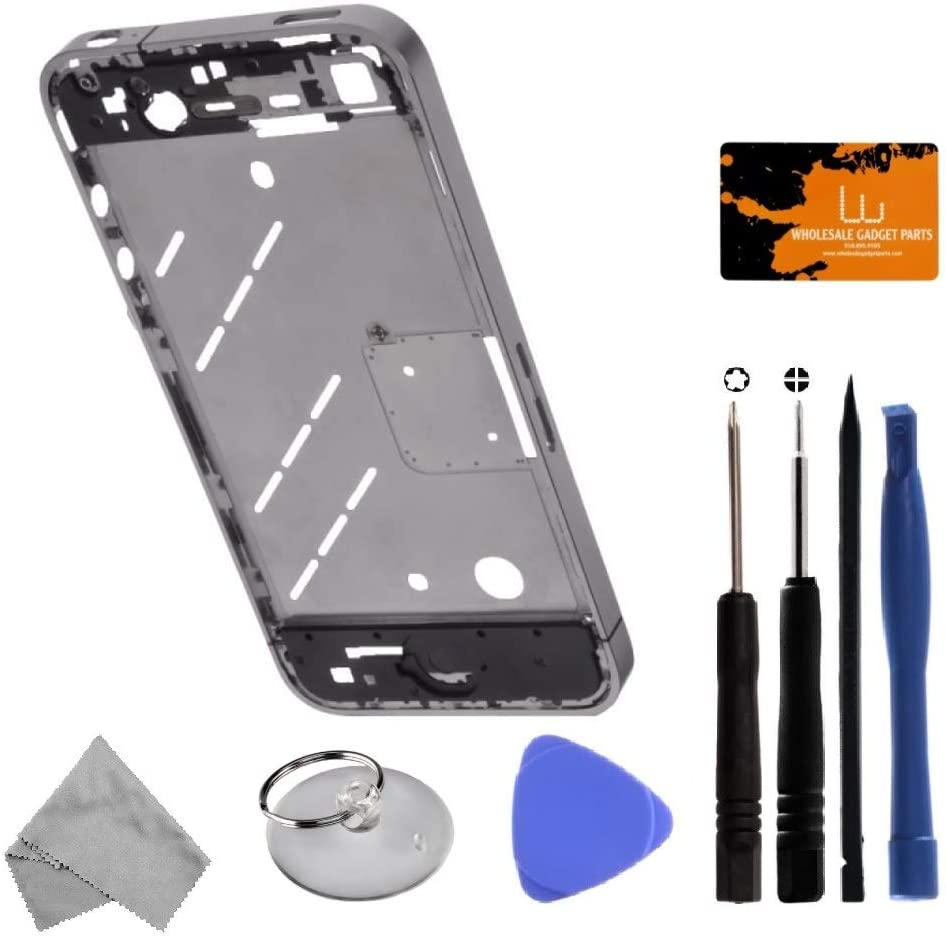GSM for Apple iPhone 4 Housing with Tool Kit Mid Plate Silver