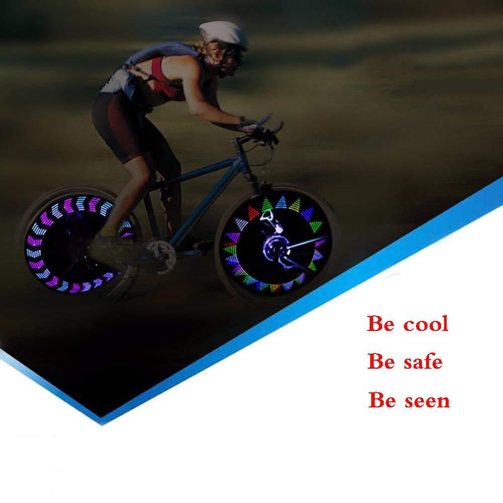 iLosga LED Bike Spoke Lights Waterproof Cool Bicycle Wheel Light Safety Tire Lights Kids Adults Very Bright Auto & Manual Dual Switch 30 Patterns