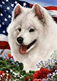 Samoyed - Best of Breed Patriotic Large Flags