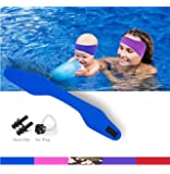 KHEJA Jelleo Swimming Headband by with Free Swimming Earplugs - Hold Earplugs In, Physician Developed, Doctor Recommended 