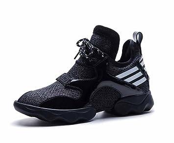 Mujer Zapatillas De Deporte Respirables 2018 Nuevos Zapatos De Viaje De Deportes De Cuero De Vaca De Gran Tamaño: Amazon.es: Deportes y aire libre