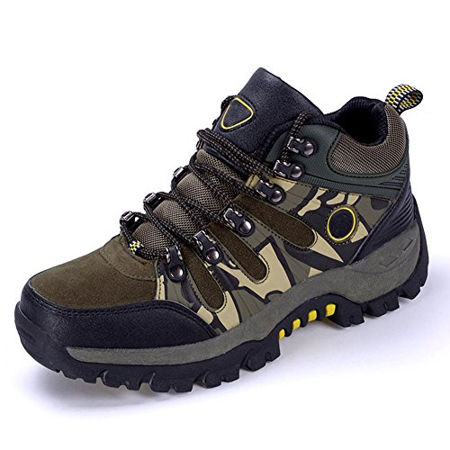 Shoe Boot Hiker Men's Backpacking Outdoor Army BERTERI Winter Waterproof Green Cotton Leather Filled qvawp0dx5n