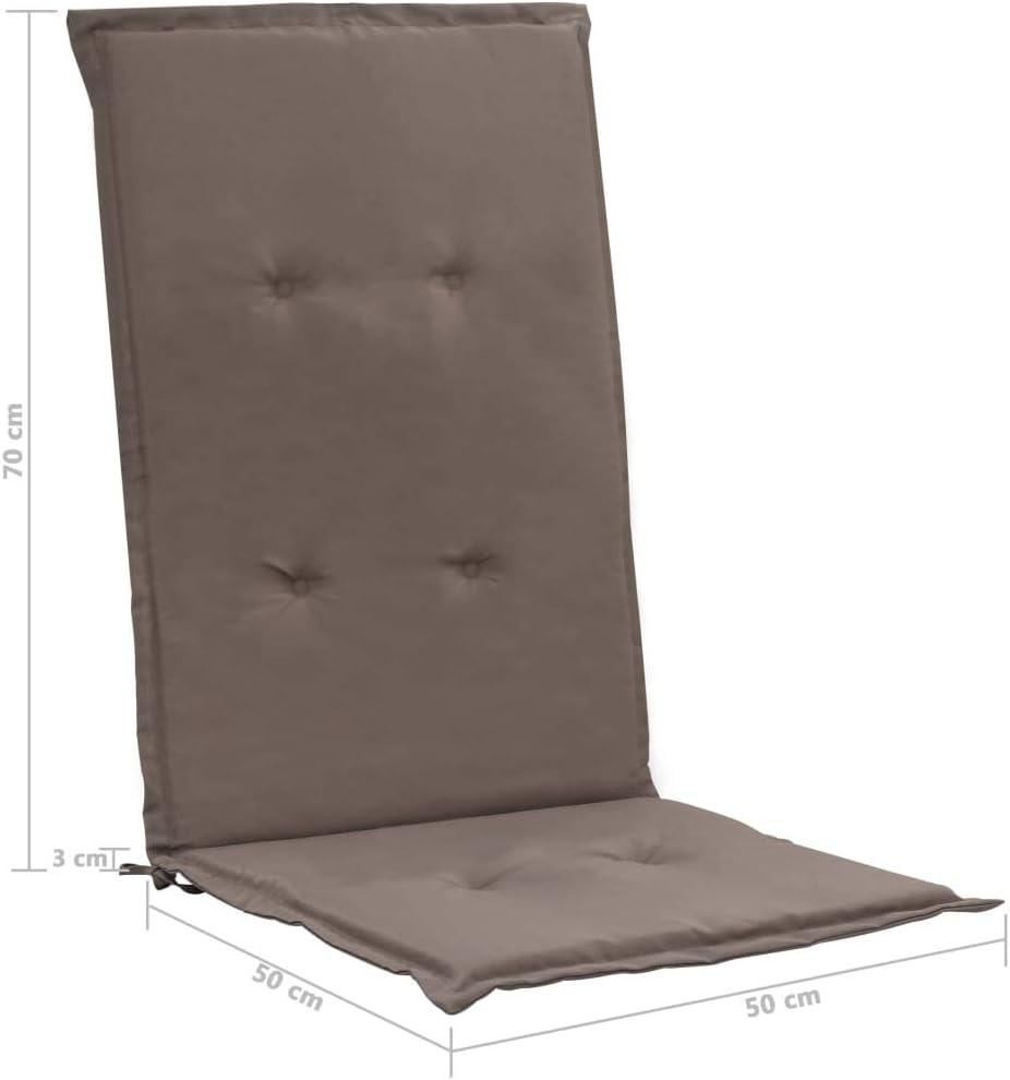 Goliraya 2 pz Cuscini per Sedie da Giardino con Schienale Talpa//Beige,Cusicni per Sedied a Esterno con Schienale 120x50x3 cm