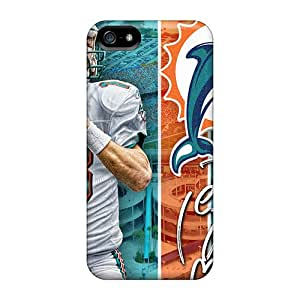 PhilHolmes Iphone 5/5s Perfect Cell-phone Hard Cover Allow Personal Design Trendy Miami Dolphins Image [AJY528Ppzl]