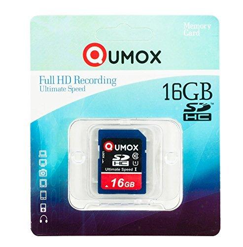 QUMOX 16GB GB SDHC Memory Card scheda di memoria Class 10UHS-I grado 1