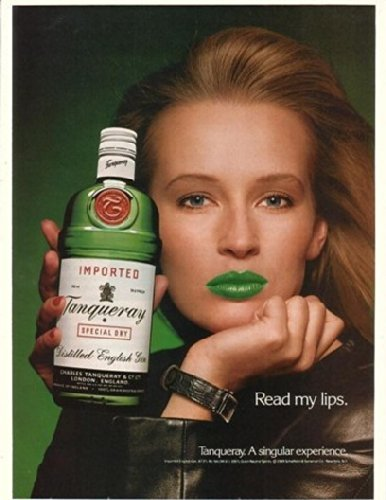 1990-tanqueray-gin-lady-with-green-lips-original-print-ad-21306