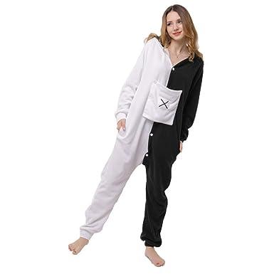 Chándal Polar de una Pieza con Pijama de Oso Blanco y Negro Polar ...