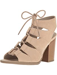 Women's Emmie Lace Up Chunky Heel Peep Toe Gladiator Bootie Sandal