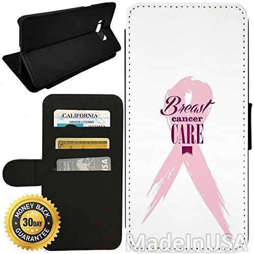 Flip Wallet Case for Galaxy S8 Plus (Pink Ribbon Breast Cancer) with Adjustable Stand and 3 Card Holders | Shock Protection | Lightweight | by Innosub