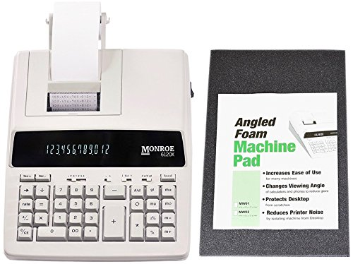 Monroe Systems - New Monroe Systems for Business 6120X 12-Digit Print/Display Medium-Duty Calculator With Optional Supplies and Foam Elev