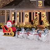 Gemmy Airblown Inflatable Santa and Dogsled Scene, 12.5