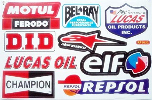 Sht Elf Repsol Oil Lubricant   H Racing Bike Car Bumper Stickers Decals